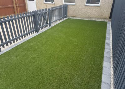 Artificial Lawn and Picket Fence